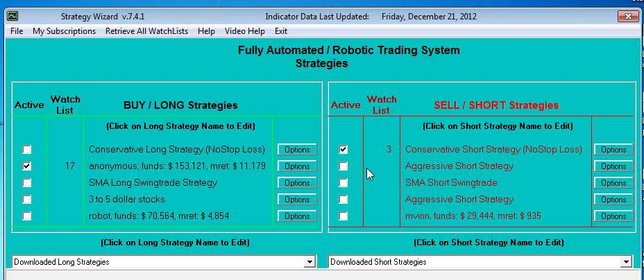 CoolTraderPro Strategies Software Screen Shot